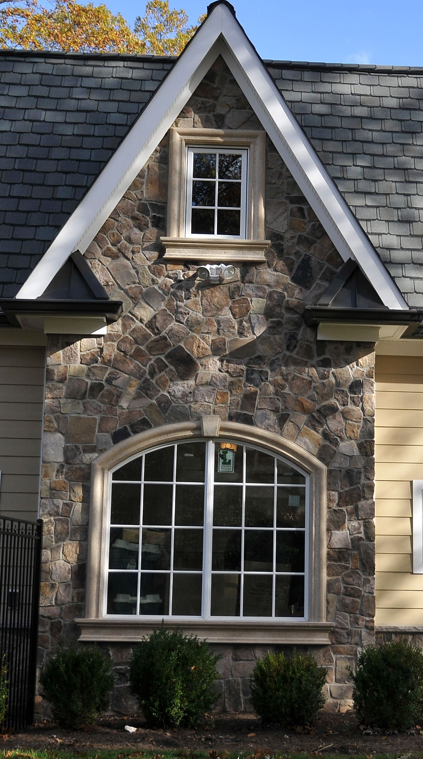 Exterior: Exterior Details With Stone Work Create A Multidimensional