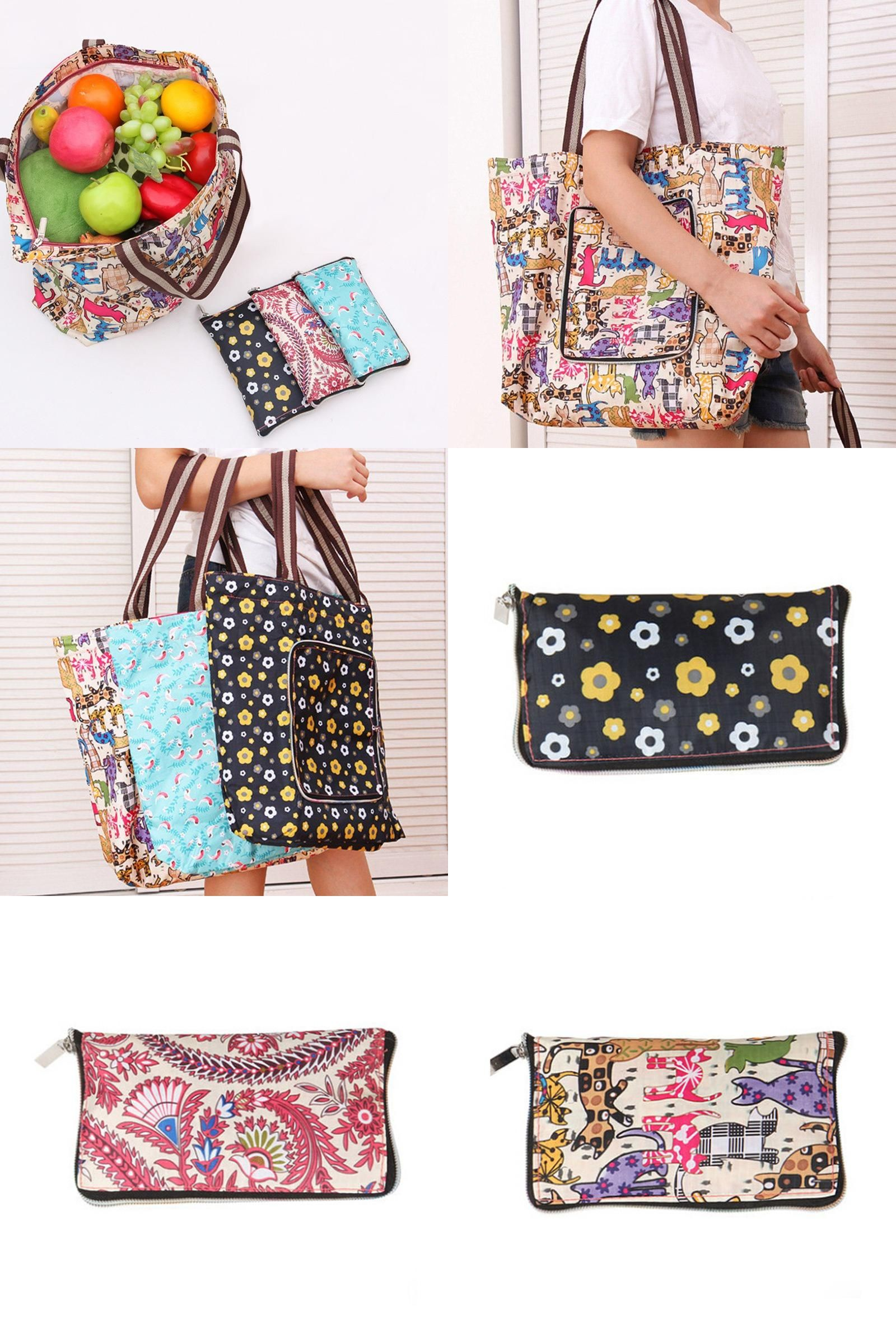 Visit to Buy  Women Handbags Large Capacity Foldable Shopping Bag Travel Tote  Reusable Shopping 12dfbf1429