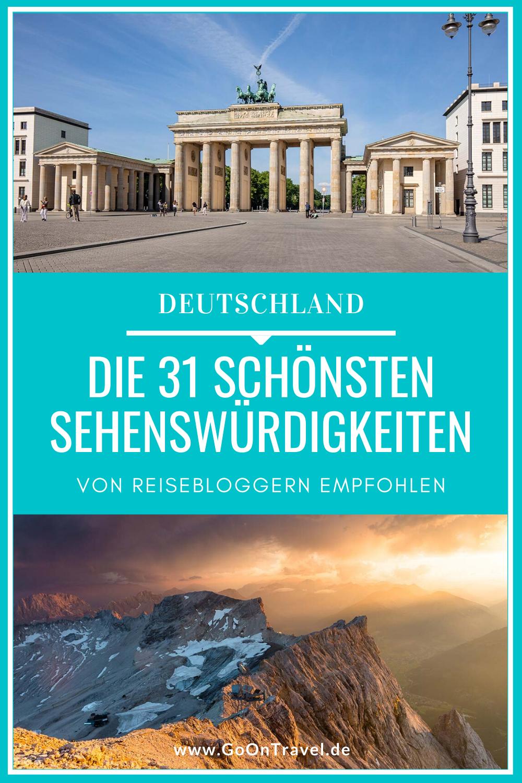 25 deutsche Reiseblogger zeigen dir wie wundervoll Deutschland ist – egal ob im Norden, Osten, Westen, Süden oder mitten drin. Herausgekommen ist eine Zusammenstellung mit den schönsten Sehenswürdigkeiten in Deutschland der unterschiedlichsten Facetten, wie sehenswerte Schätze in der Natur, historischen Gebäuden oder Bauwerke der Neuzeit.  deutschland schönste orte schönste orte in deutschland deutschland urlaub deutschland sehenswürdigkeiten sehenswerte orte deutschland sehenswürdigkeiten deuts