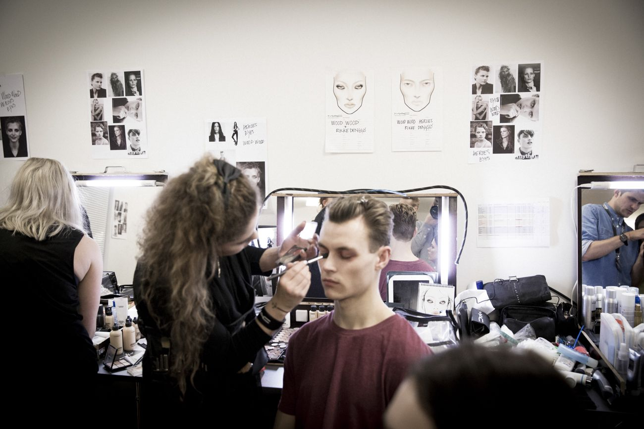 Wood Wood AW14 Fashion Show - Backstage photography by Amanda Hestehave - Key make up by Rikke Dengsø