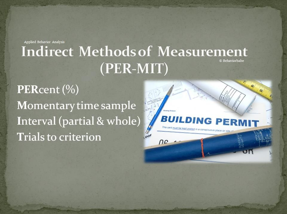 Indirect Methods Of Measurement From BehaviorbabeCom  Bcba Exam