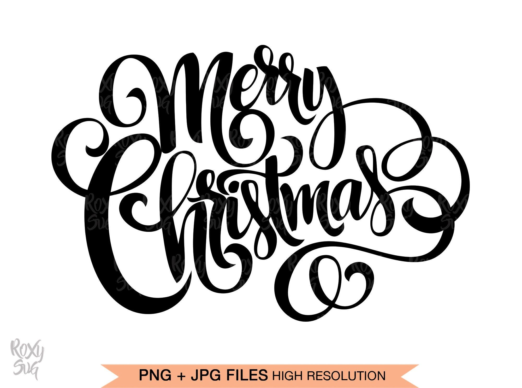 Merry Christmas SVG files for Cricut Merry Christmas hand