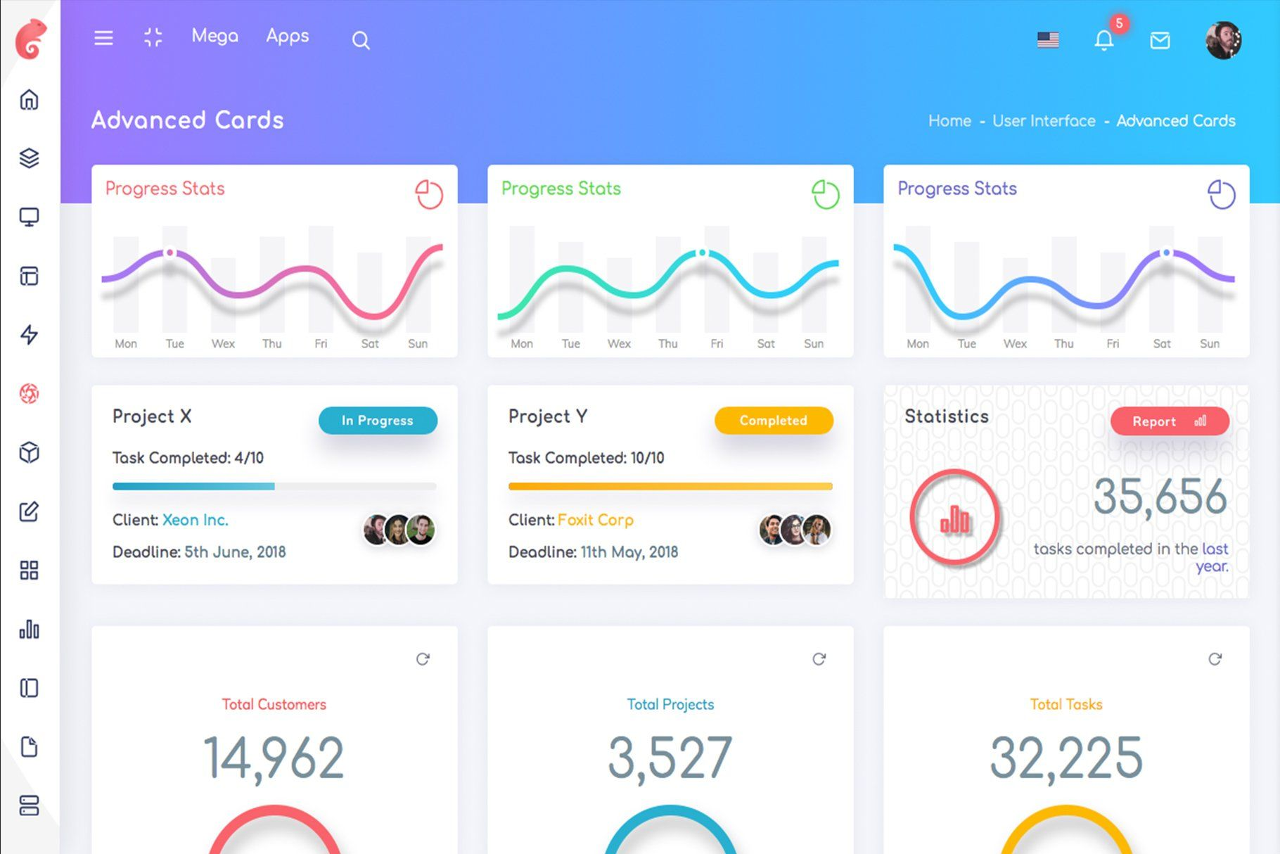 Chameleon Bootstrap 4 Admin Template Templates Web Template Design Web App