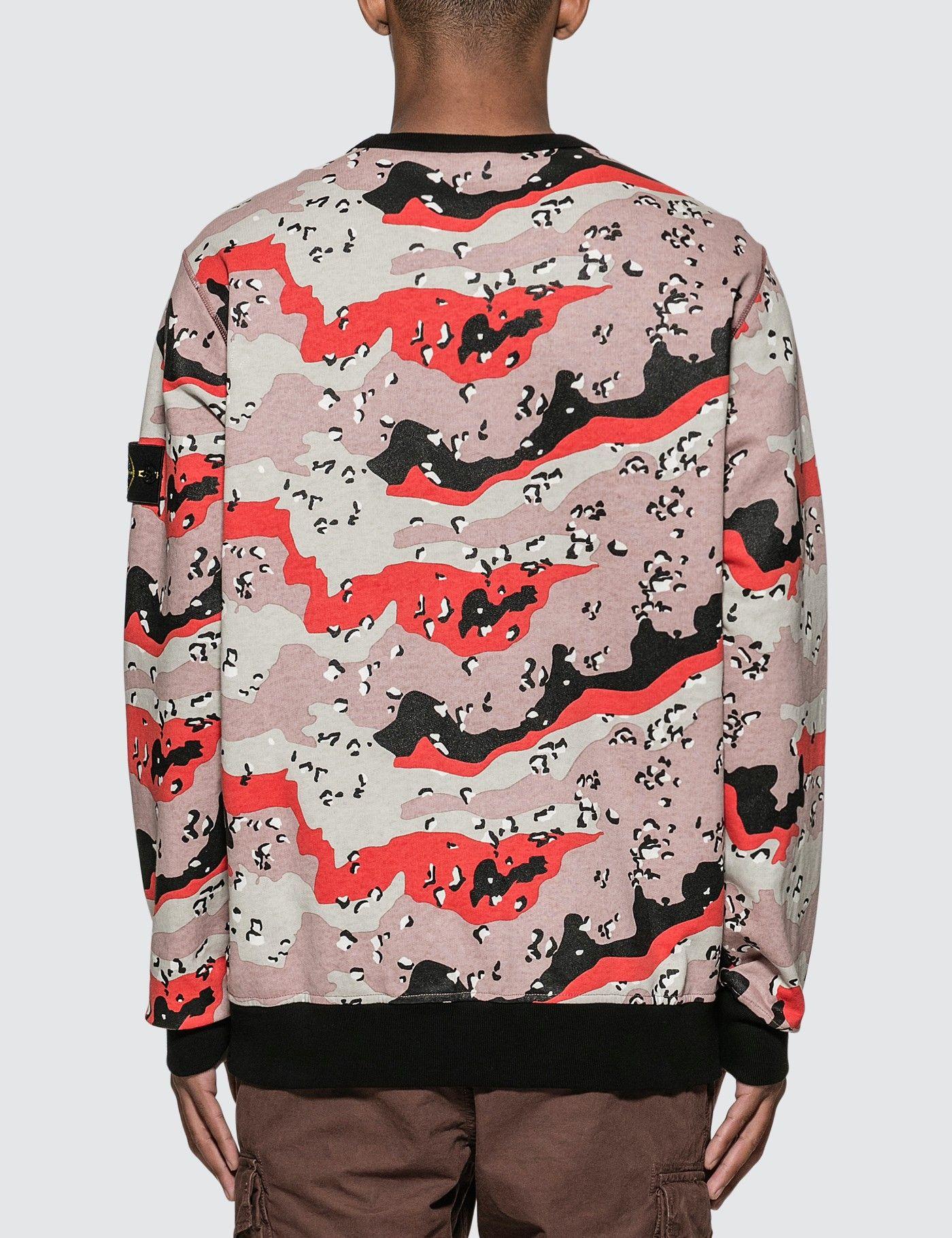 Stone Island Desert Camo Sweatshirt Hbx Sweatshirts Camo Sweatshirt Shopping Outfit [ 1820 x 1400 Pixel ]