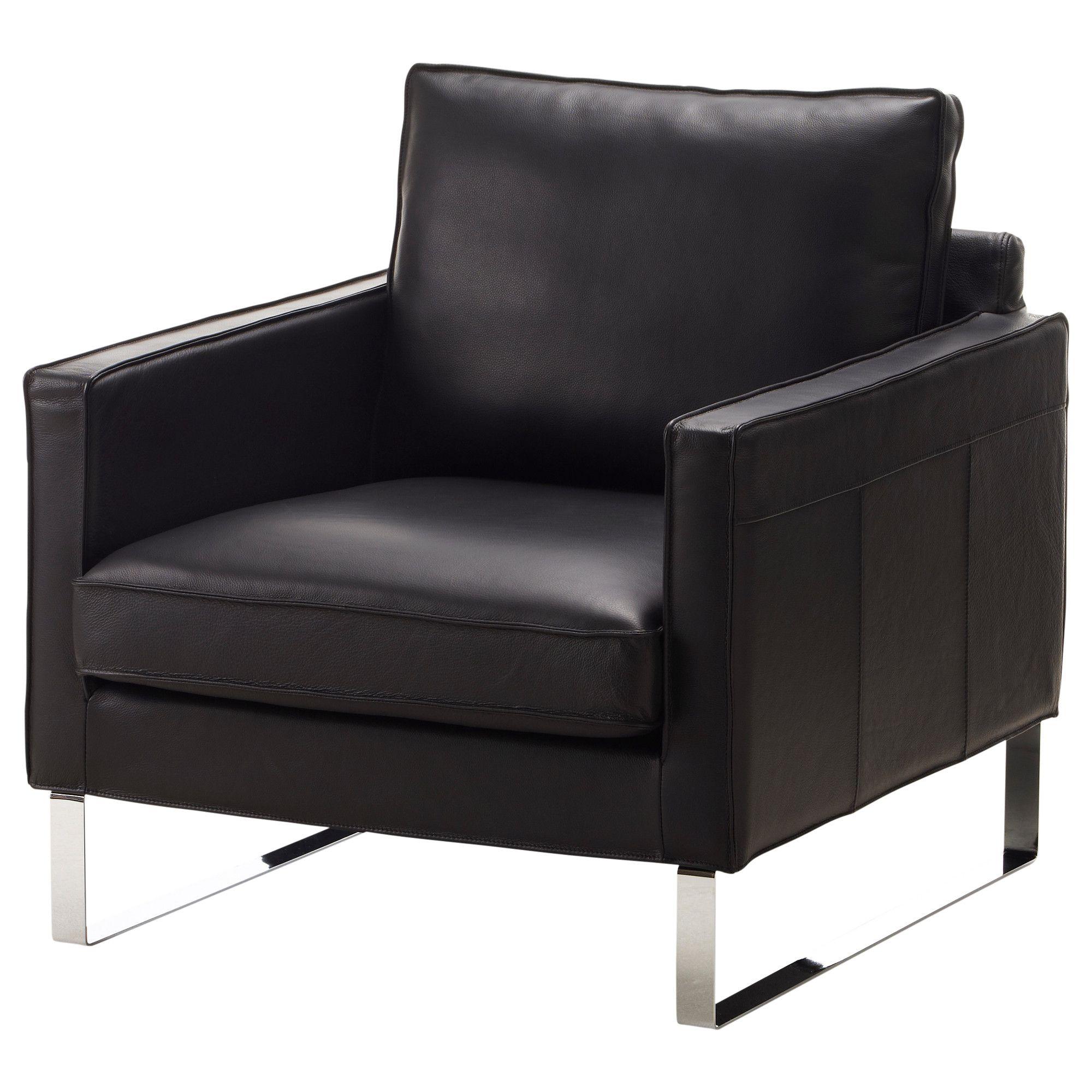 Black Leather Sofa Office: MELLBY Chair - Grann Black - IKEA