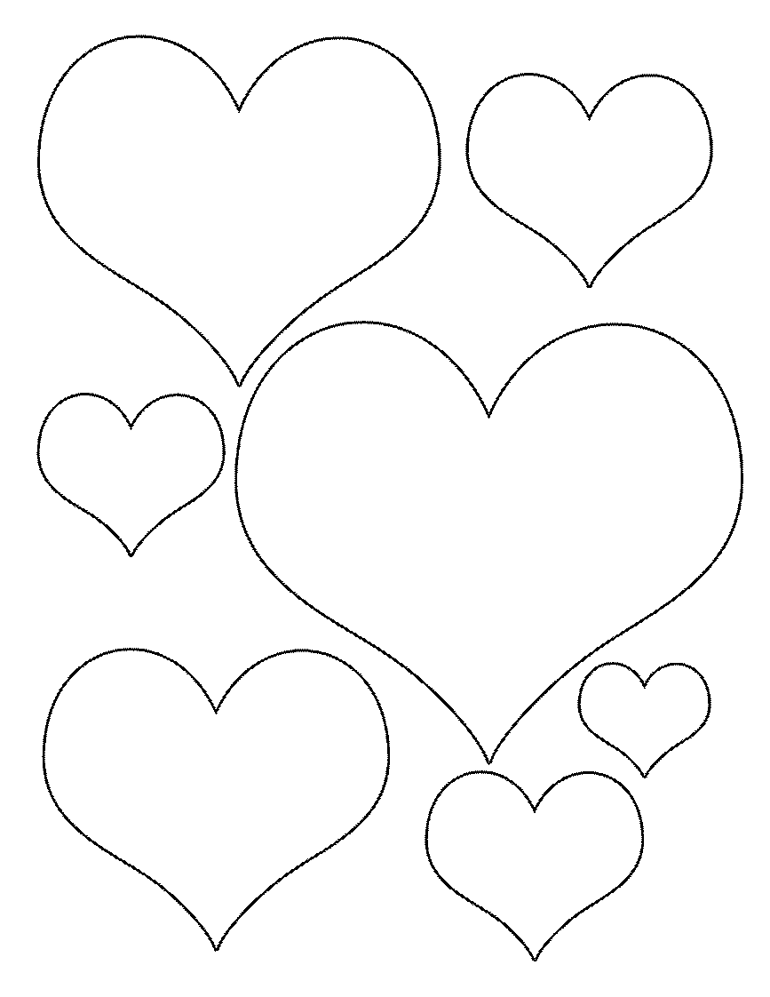 corazones-para-colorear.png (867×1122) | pictures, patterns ...