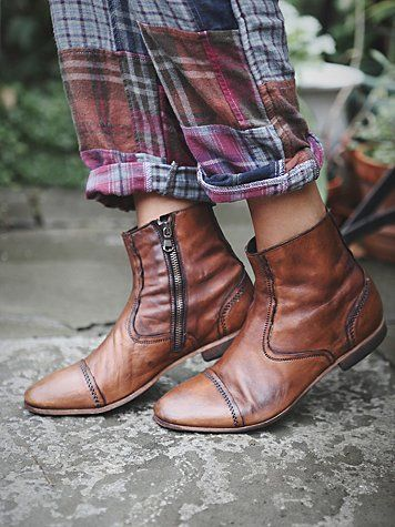 Free People Graceland Boot. Love the color, zipper, stitching detail, small heel. Maybe high up on calf?