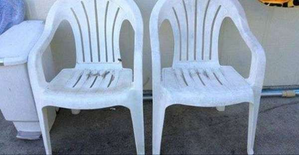 Omg This Is Amazing I Have Old Plastic Chairs And I Am Stealing