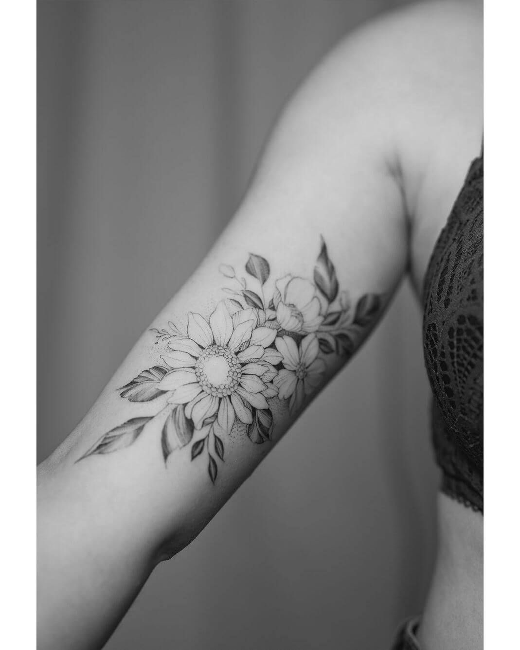 100 Arm Tattoo Ideas For Men And Women The Body Is A Canvas Tattoos For Women Flowers Bicep Tattoo Bicep Tattoo Women