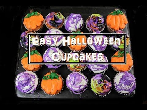 Halloween-Inspired Pumpkin Cupcakes Chelsweets Cupcakes - halloween cupcake decor