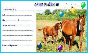 anniversaire cheval à imprimer