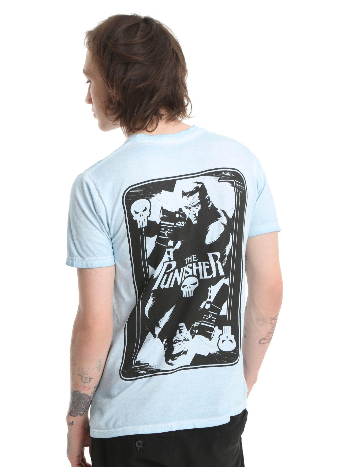 Marvel Punisher Skull Card T Shirt Marvel Fashion