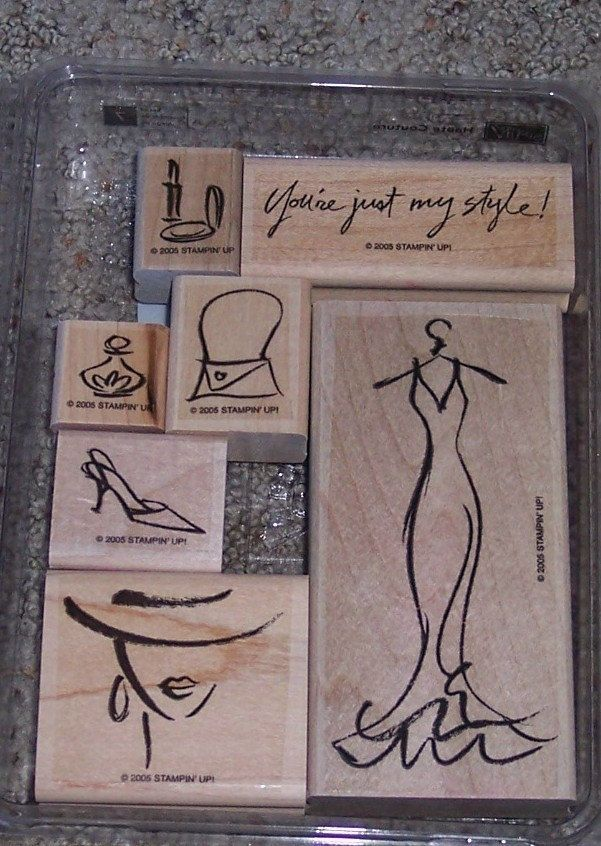 Haute Coutoure Stampin'Up Rubber Stamp Set. $15.00, via Etsy.