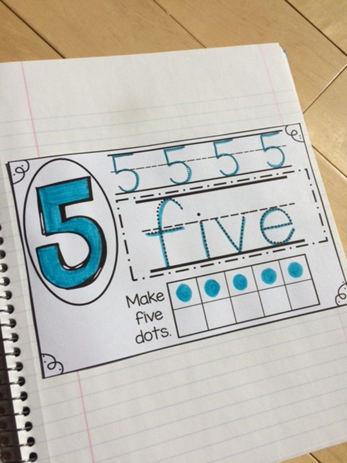 Preschool October Math Journal Math Journals Preschool Journals