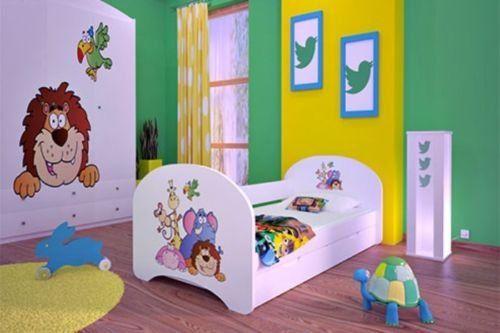 Tolles Kinderbett mit 2 Liegeflächen und 2 Matratzen für
