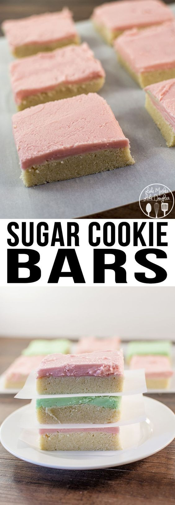 Sugar Cookie Bars -  These Sugar Cookie Bars are simple to make but have the same great softness and taste of regular sugar cookies, just much easier to make!