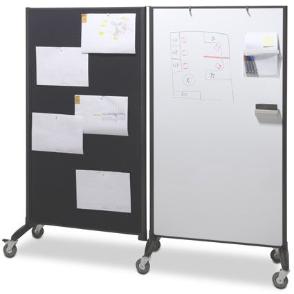 meeting space dividers on wheels u003d easy to move u0026 rearrange white board