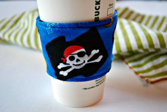 Pirate Coffee CozyCup Cozy Home and Living by CinnamonStixSundries