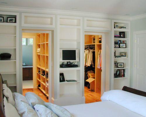 Houzz Walk Through Closet Design Ideas Remodel Pictures With