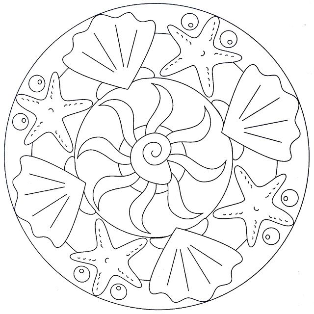 Cool Simple Mandala Coloring Pages | Nyár/Summer | Pinterest ...
