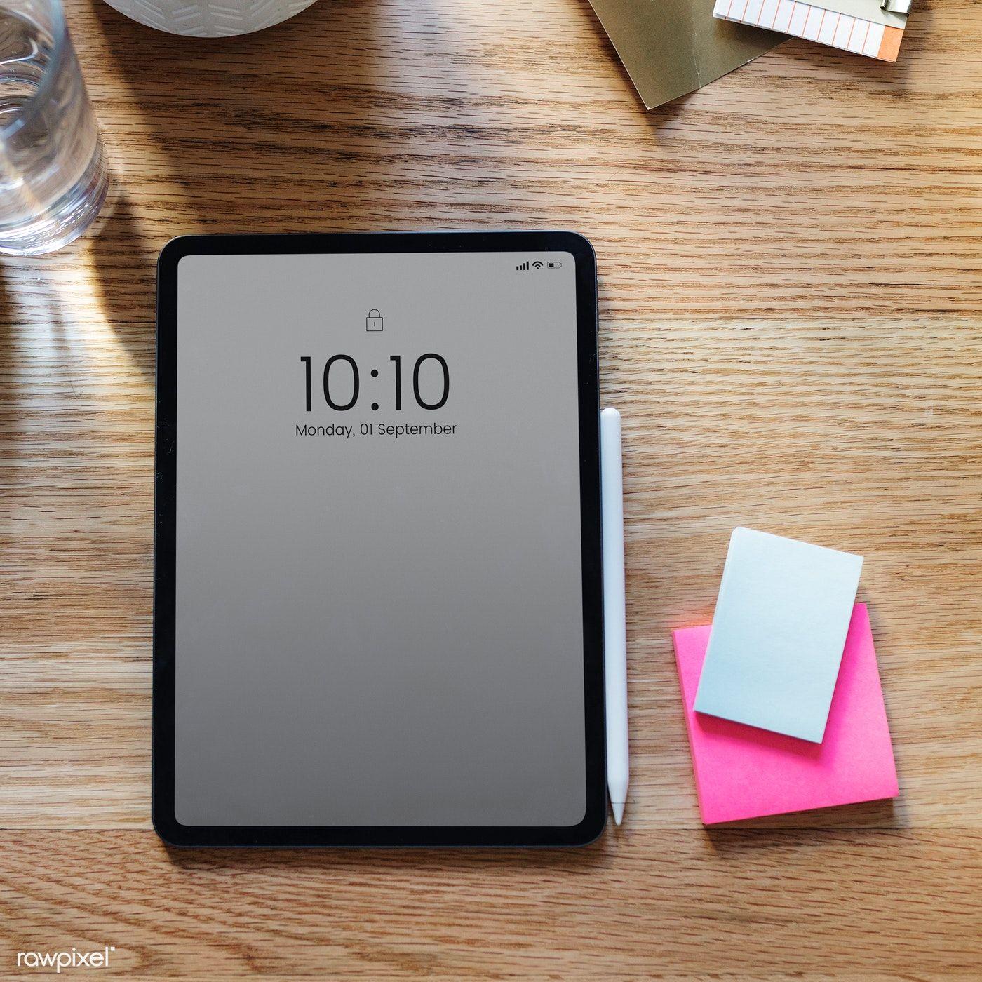 Download premium photo of Digital tablet mockup on a