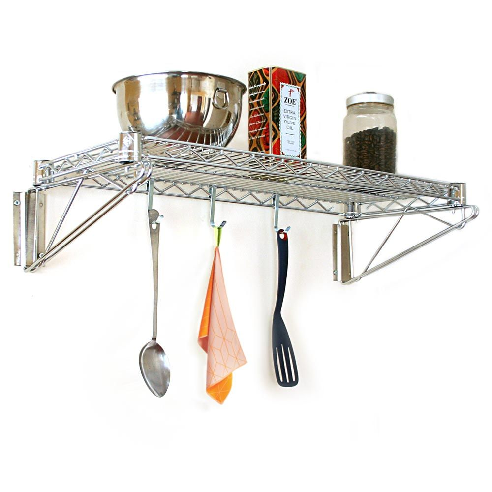 Captivating Wire Wall Shelves Kitchen Good Looking