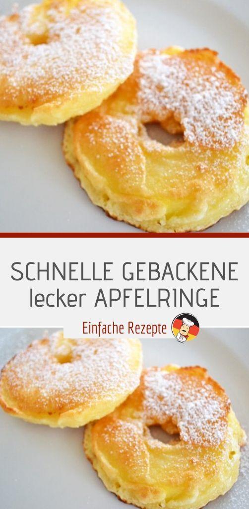 Photo of SCHNELL GEBACKENE leckere APFELRINGE