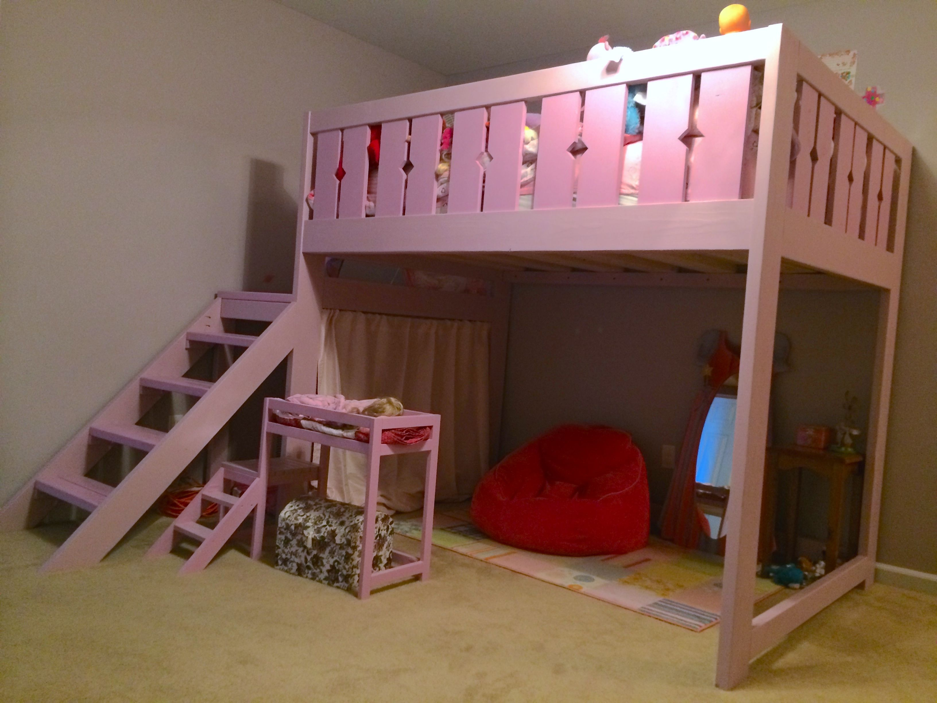 Best Ana White Modified Camp Loft Bed Full Size Diy 400 x 300