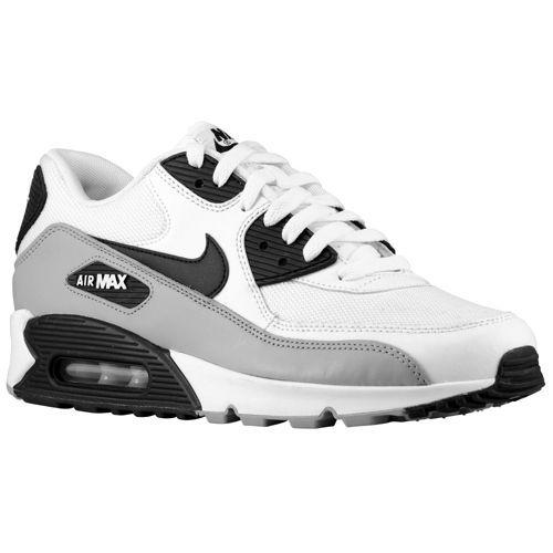 premium selection a5a8d 6bcea Nike Air Max 90 - Men s - Running - Shoes - White Black Metallic