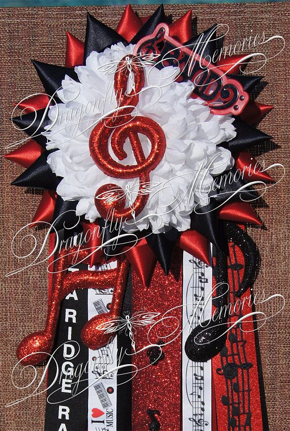 Handmade Custom Petite Single BAND Homecoming Garter Mum High School Middle School Football Texas Corsage Freshman Sophomore Junior Senior