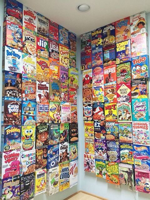 Cereal Box Collection Cereal Cafe Wall Painting Indie Room