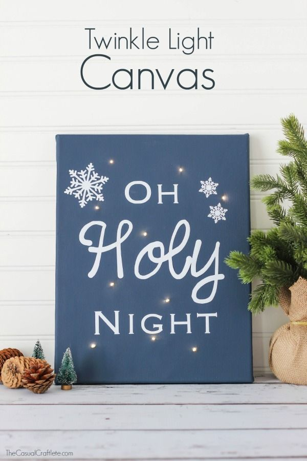 Oh Holy Night Twinkle Light Canvas