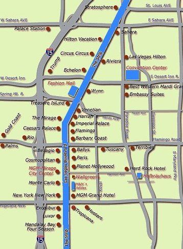 Map Of Vegas Strip Hotels Vegas Vows Pinterest Vegas - Planet hollywood las vegas map