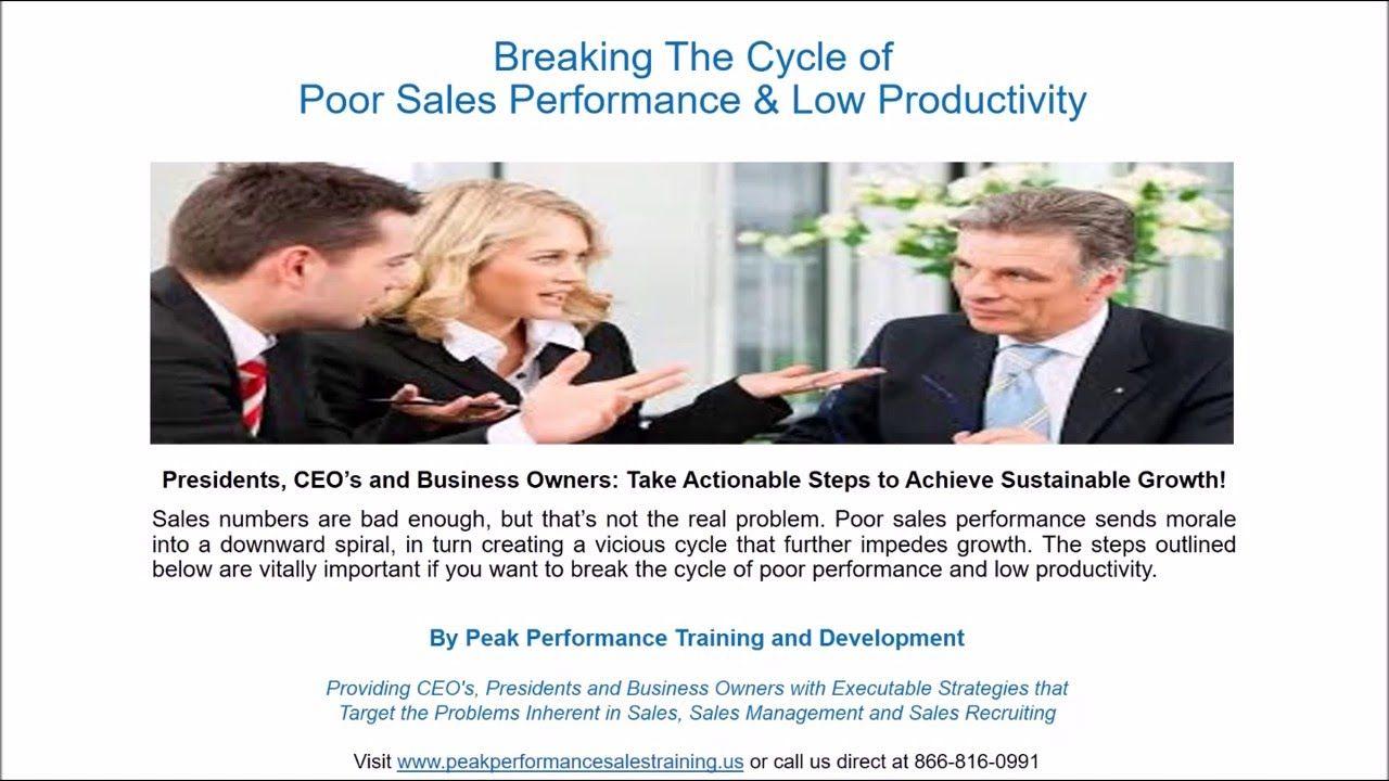Sales Training Spotlight Breaking The Cycle of Poor Sales