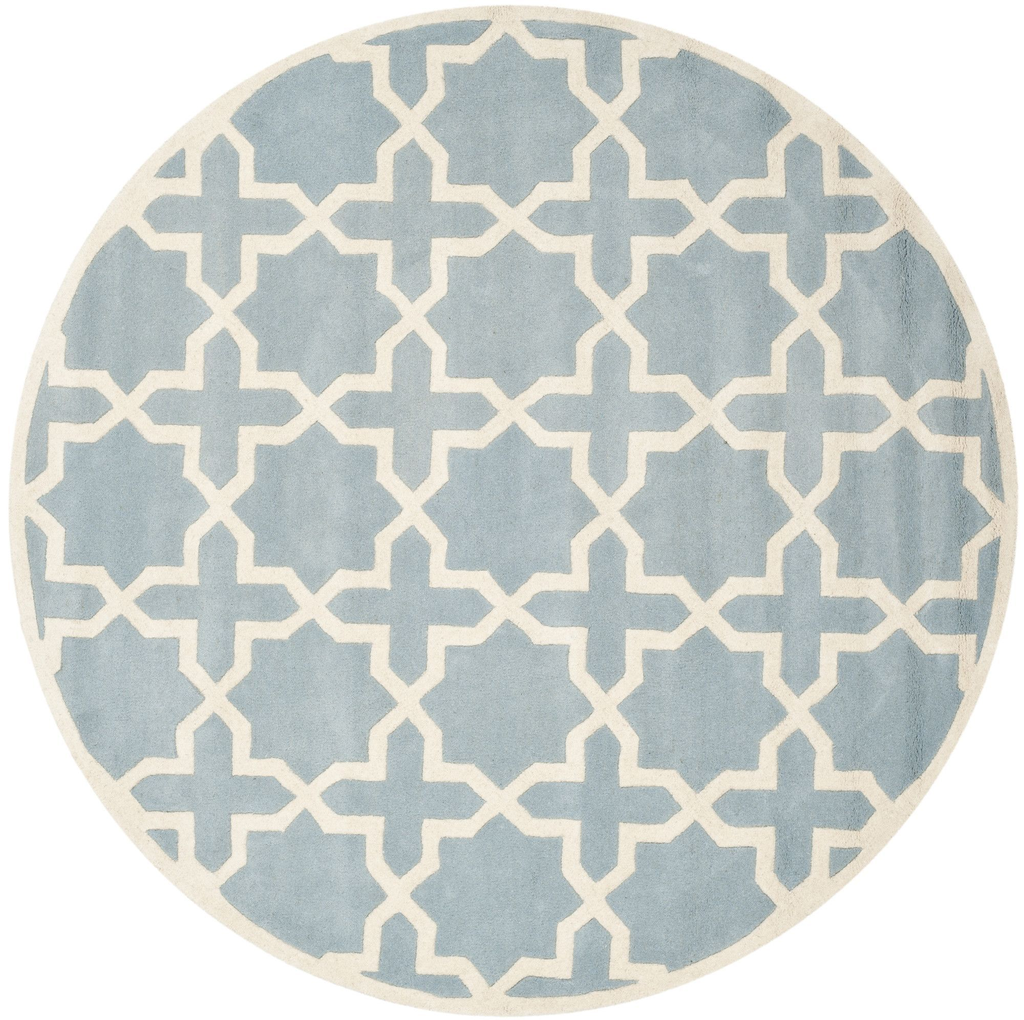 Chatham Blue & Ivory Area Rug Geometric area rug, Blue
