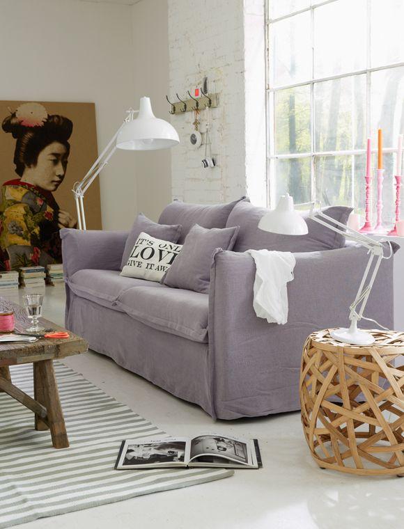 Das Hussen Sofa Lsst Sich Im Nu Abziehen Und Der Bezug Kann Gewechselt Werden Wird Fertig Montiert Geliefert Die Fllung Kissen Ist