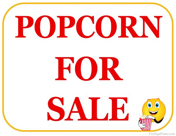image relating to Popcorn Sign Printable named Pin upon Absolutely free Printables 2