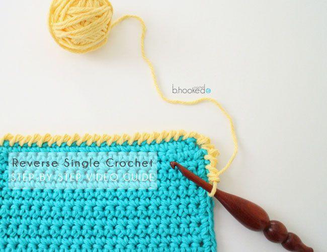 Reverse Single Crochet stitch tutorial.