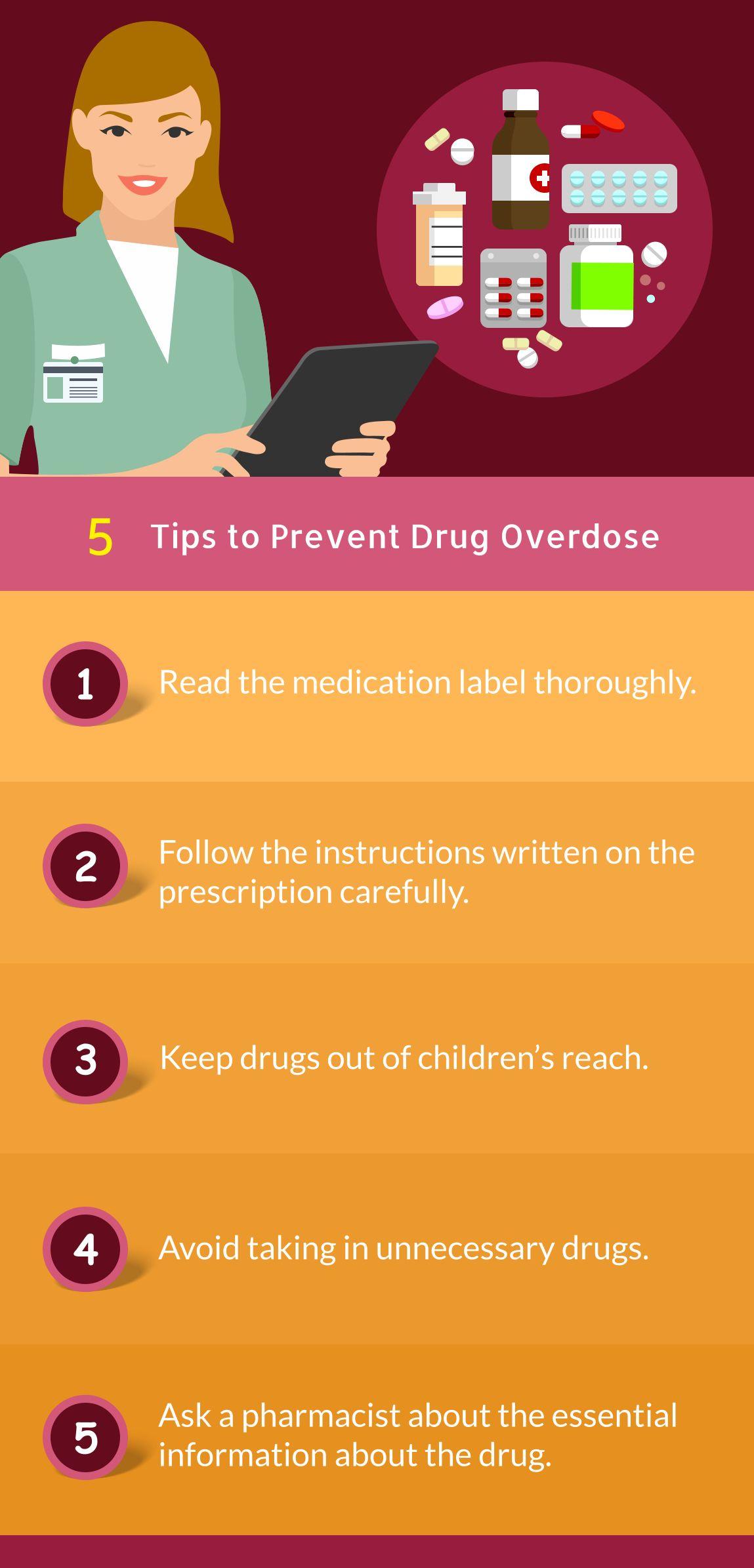 infographic 5 tips to prevent drug overdose tips overdose