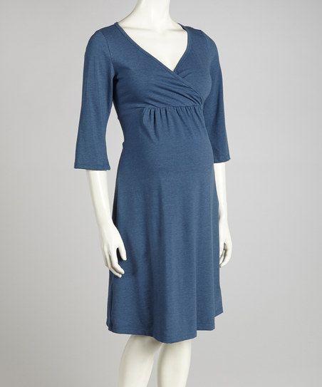 8d447ee4f4972 Denim Blue Athena Maternity & Nursing Nightgown - Women | Maternity ...