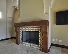 spanish colonial fireplace designs - Recherche Google | Murs ...
