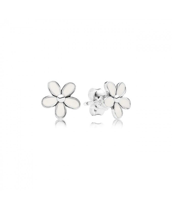 1a23f2379 Pandora Darling Daisies With White Enamel Stud Earrings Sale UK   my ...