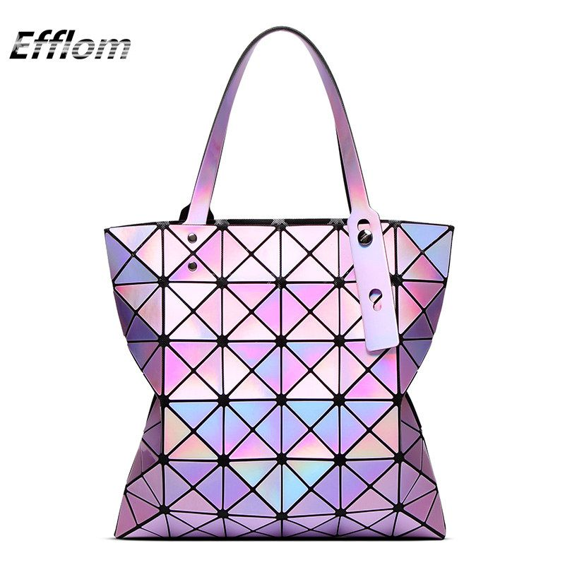 Geometric Bag Diamond Lattice  Laser Bag Bao Bao Japanese Brand ... e343e053ab8ea