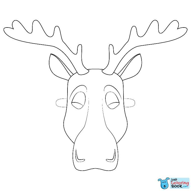 Free Moose Mask Coloring Pages Deer Coloring Pages Moose