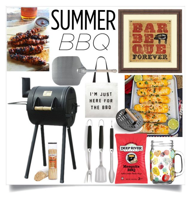 """""""Summer BBQ"""" by sheetal2002 ❤ liked on Polyvore featuring interior, interiors, interior design, home, home decor, interior decorating, Amanti Art, Kilner, Forever 21 and Improvements"""