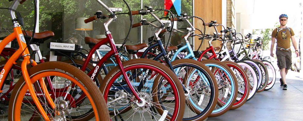 Bike Shop Austin Electric Bike Rentals Tours Rocket Electrics Bike Rental Bike Shop Electric Bike