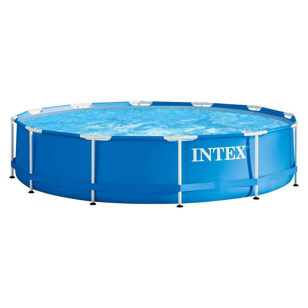 Pool Filteranlage Set Intex 12 X 30 Metal Frame Above Ground Pool With Filter Pump