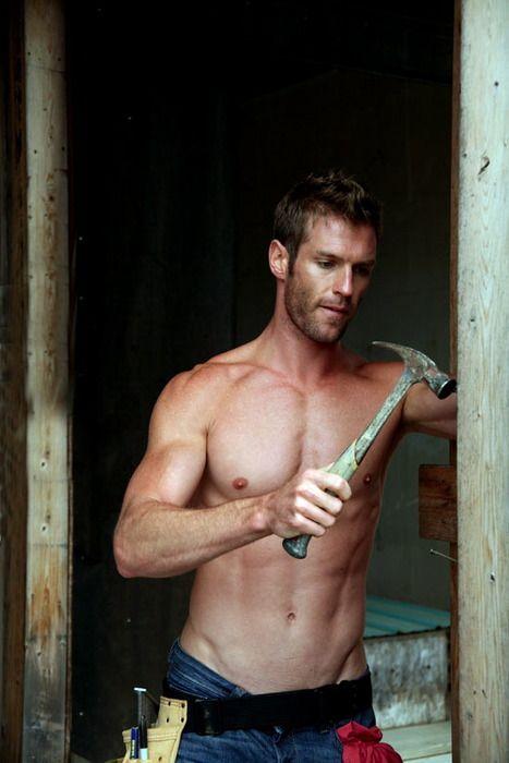 Bearded males hammering hard