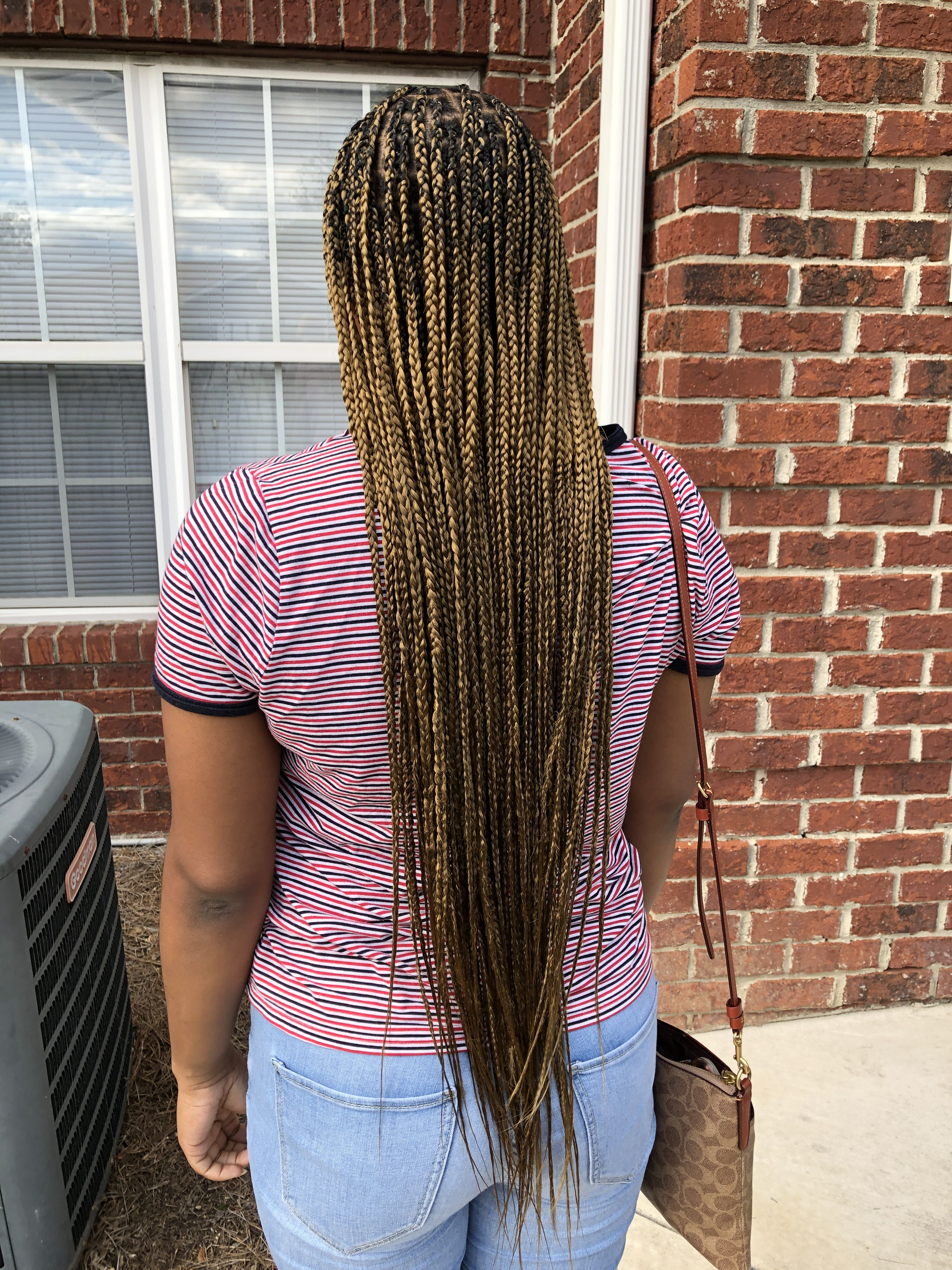 Honey Blonde Knotless Braids On Black Woman Rahstyles Honey Blonde Blonde Box Braids Blonde Dreads Clients have the option to style. honey blonde knotless braids on black