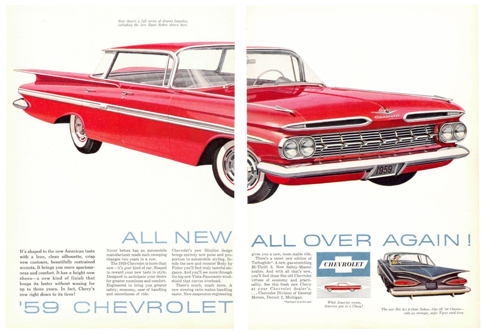 1959 Chevrolet Bel Air Ad Automobile Advertising Car